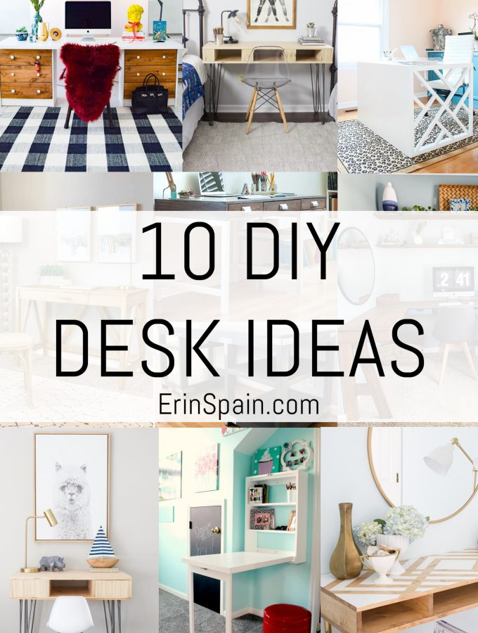 10 DIY Desk Ideas + Favorite Desk Chairs and Accessories