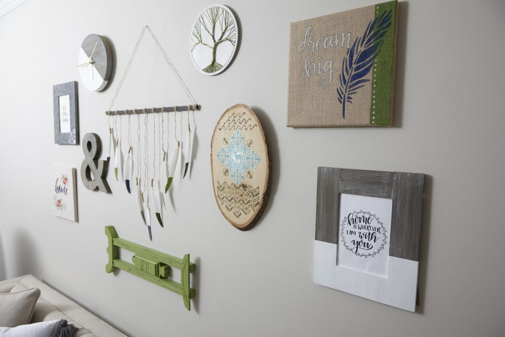 Enter to win this ENTIRE gallery wall full of art made by the Plaid Creators team of bloggers!