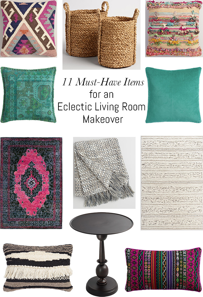 11 Must Have Items For An Eclectic Living Room Makeover