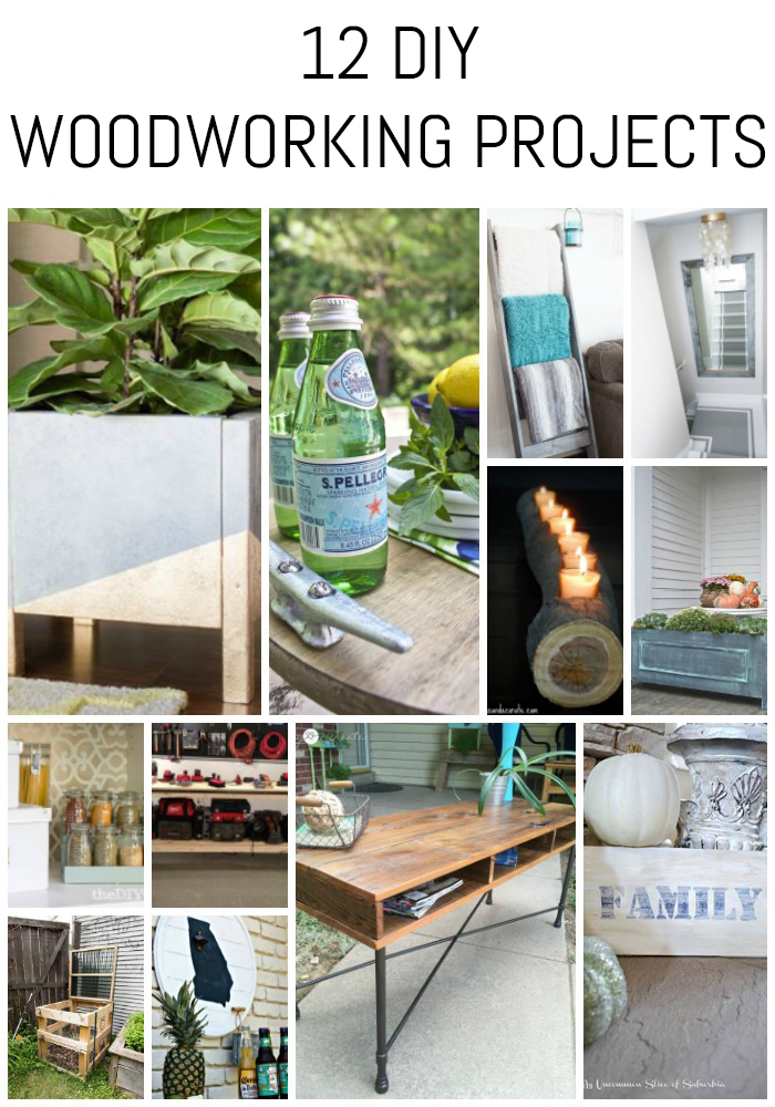 Looking for project ideas? Check out these 12 DIY woodworking projects!