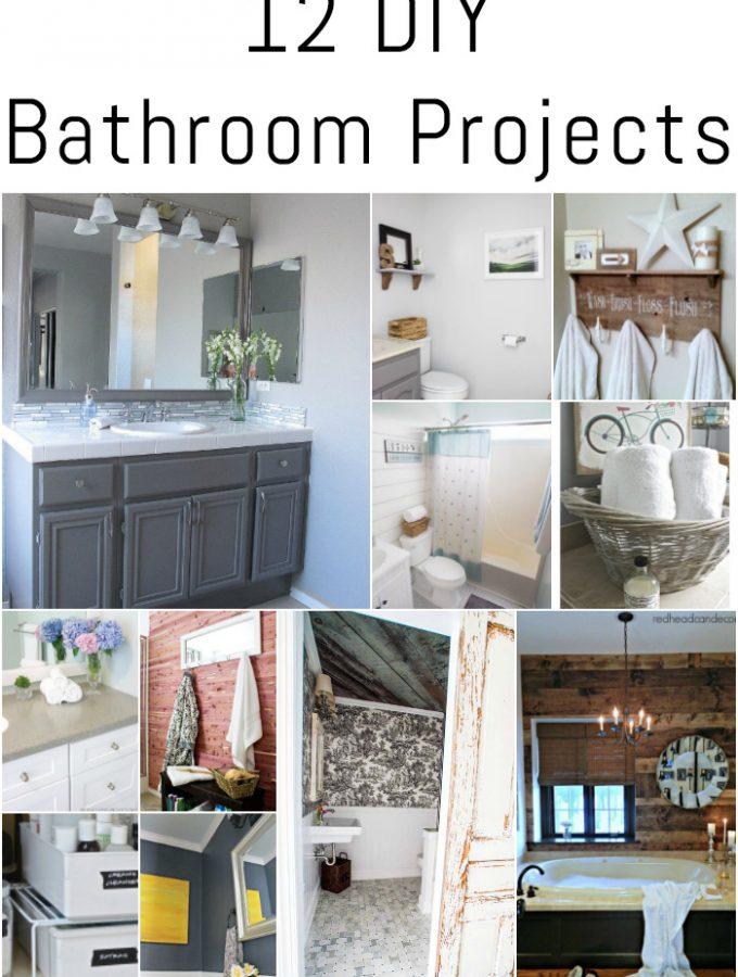 12 DIY Bathroom Projects