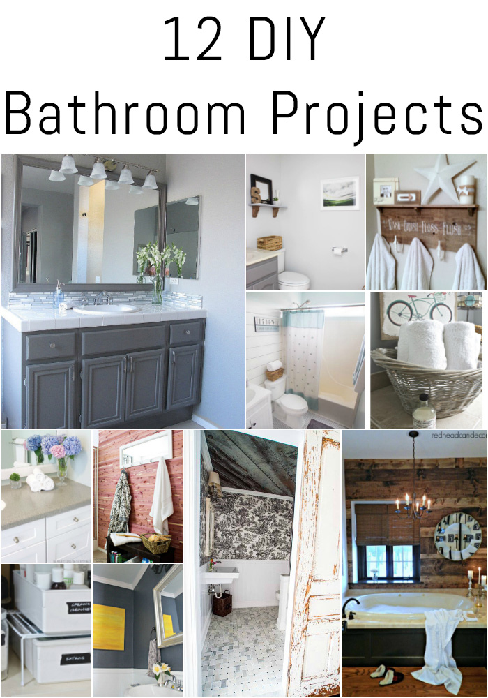 Check out these 12 DIY bathroom projects for ideas and inspiration!
