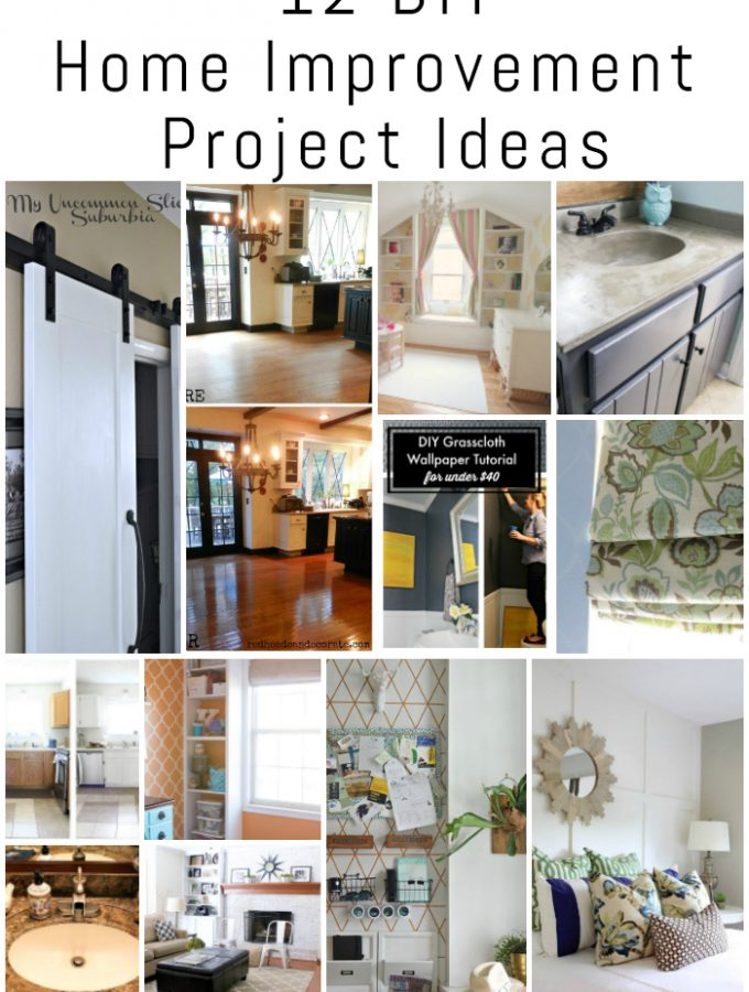 12 DIY Home Improvement Project Ideas {The DIY Housewives Series}