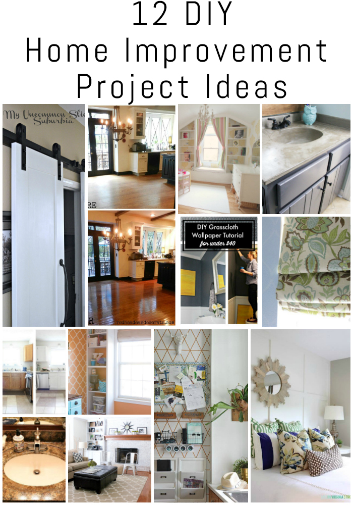 12 diy home improvement project ideas {the diy housewives series