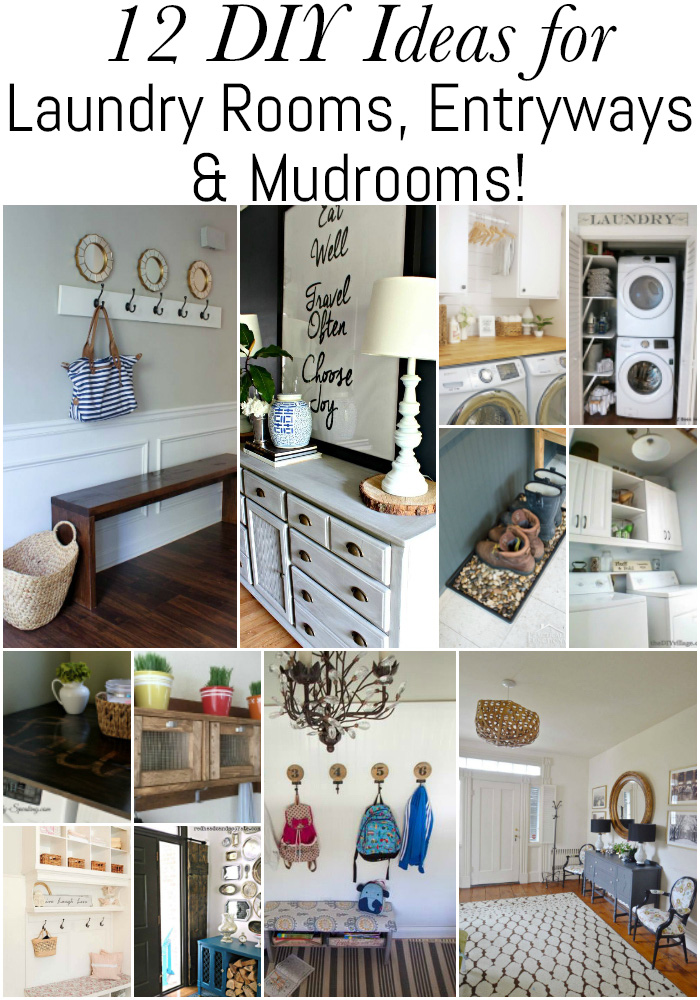 SO much inspiration here! Check out these 12 DIY ideas for laundry rooms, entryways, and mudrooms!