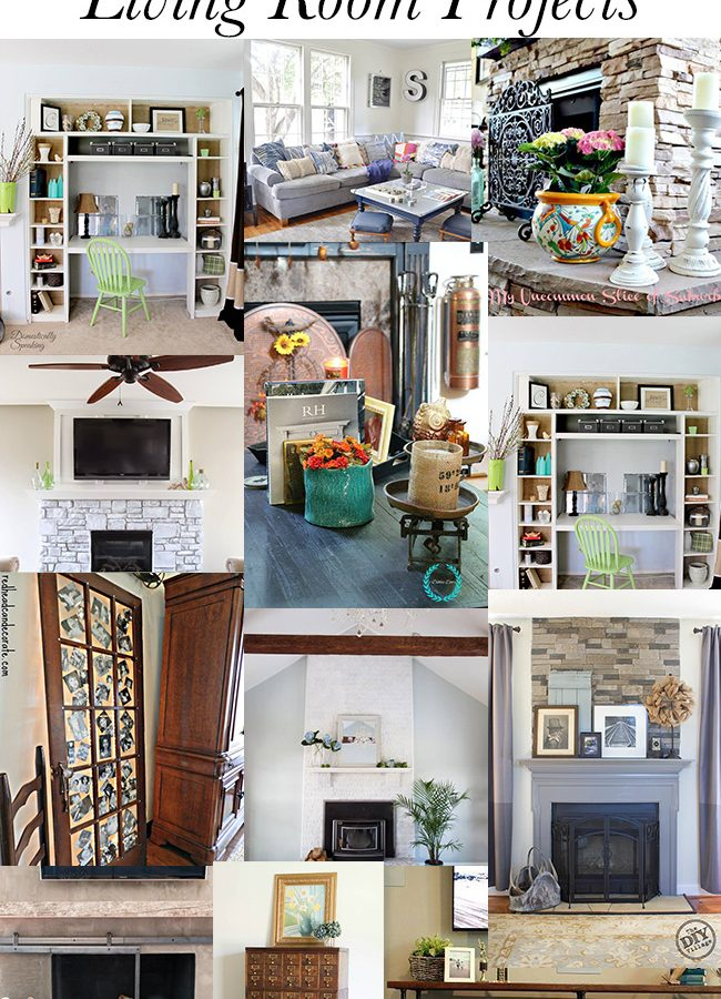 12 DIY Living Room Projects {DIY Housewives Series}