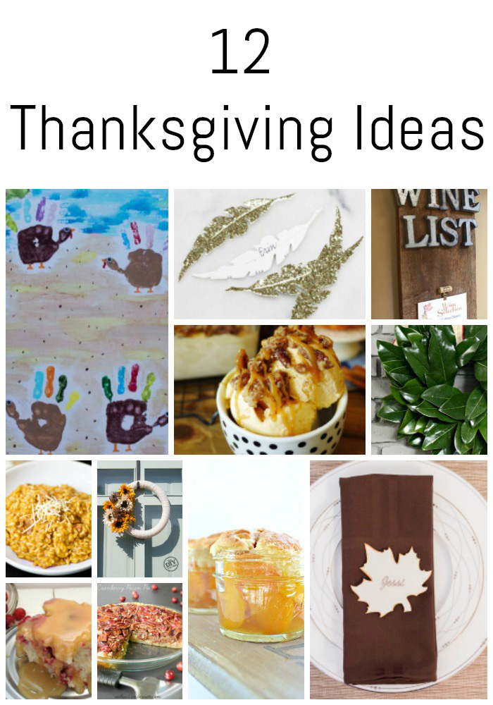 "12 Thanksgiving Ideas from the ""DIY Housewives""! 12 Bloggers are sharing their favorite Thanksgiving projects, recipes, and decor ideas!"