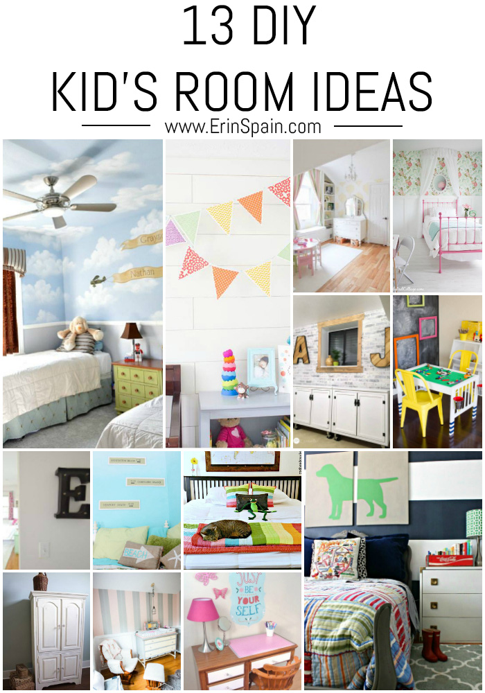 SO much inspiration here! Check out these 13 DIY Kid's Room Ideas!