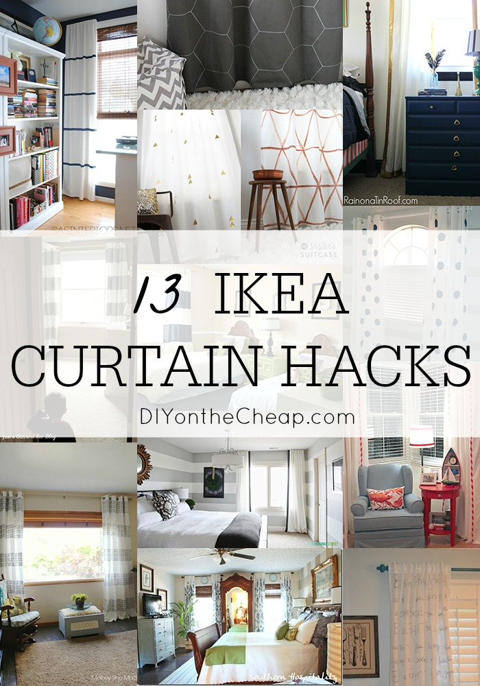 13 IKEA Curtain Hacks via DIY on the Cheap (2015 Year in Review: Favorite Posts at DIYontheCheap.com)