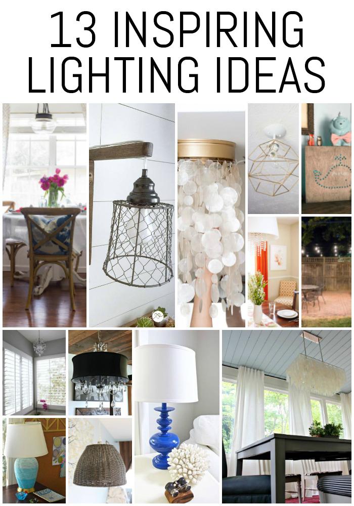 Loving these 13 Inspiring Lighting Ideas!