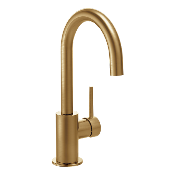 This gorgeous Trinsic Delta Faucet in champagne bronze will be installed in our coffee bar for the One Room Challenge.