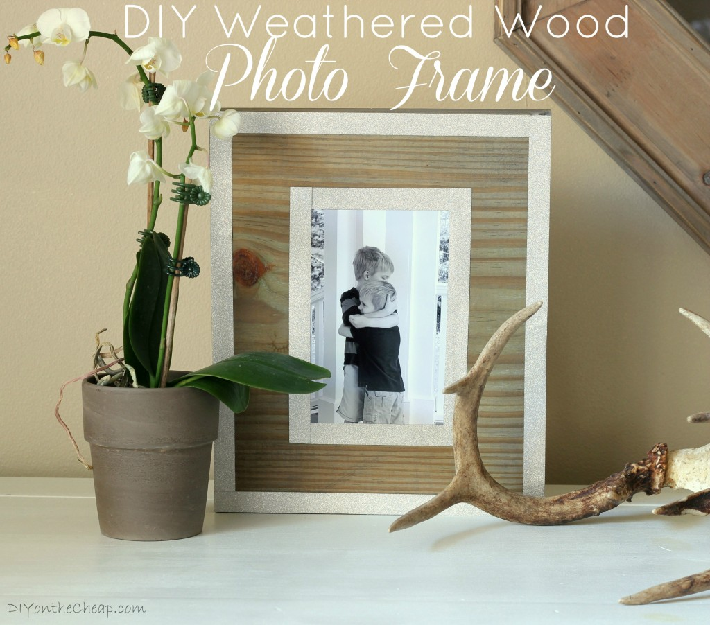 How to make a DIY Weathered Wood Photo Frame + a fun giveaway! Enter to win a prize package from DIYDriftwood.com!