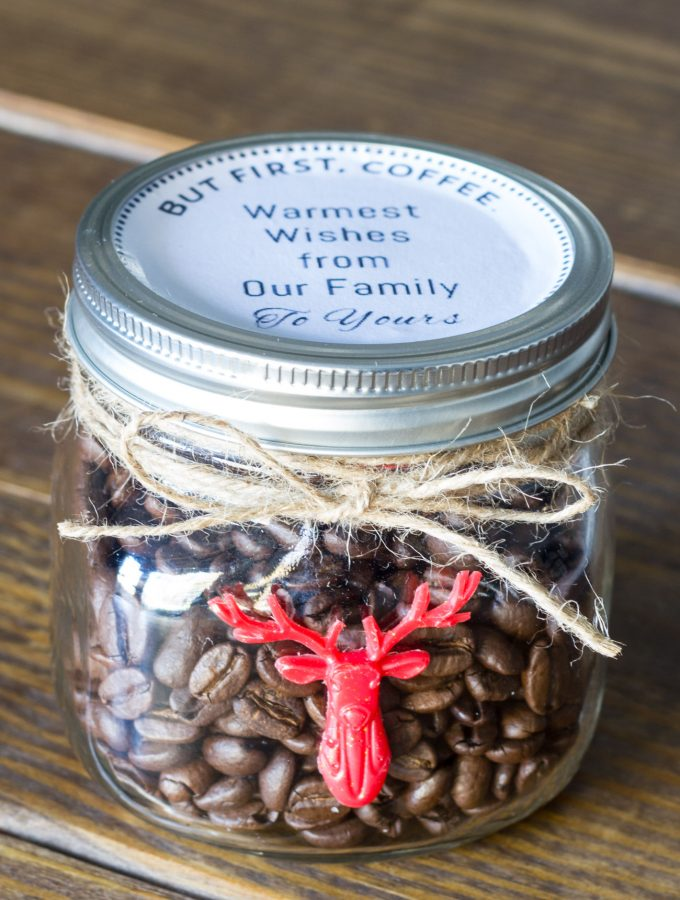 30 Minute Gift Idea for the Coffee Lover {& Free Printable Label}