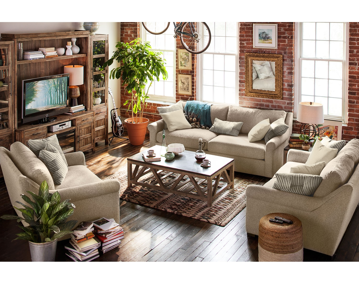Unique If you ure looking for color consider the Bailey Blue Living Room Collection