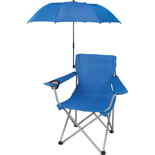 Check out my top 5 beach must-haves, including this awesome beach chair with attachable umbrella, at ErinSpain.com!