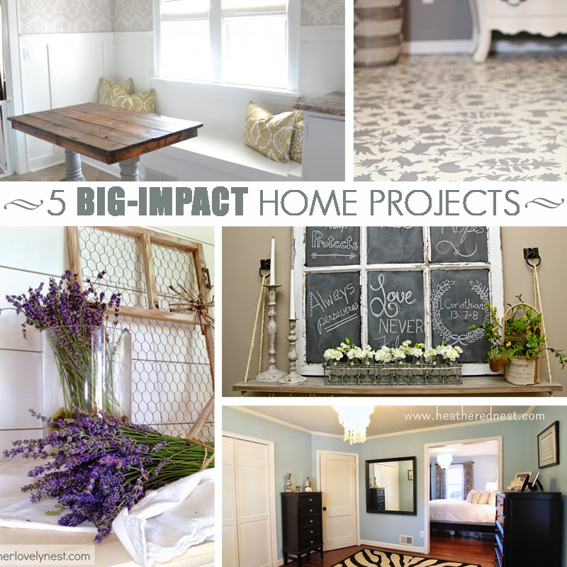 5 Big-Impact Home Projects and M&MJ Link Party {69}