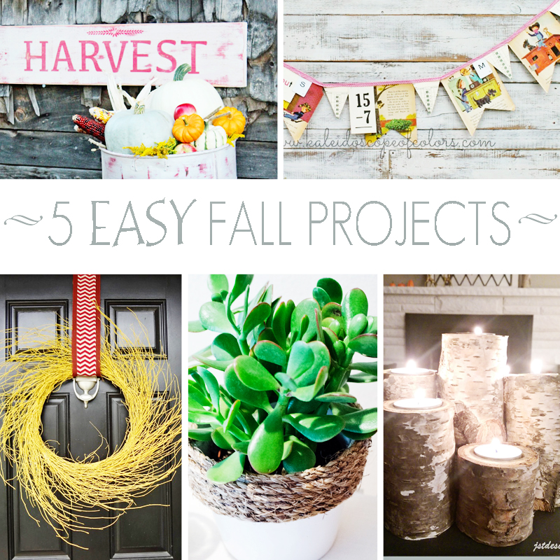5 Easy Fall Projects + M&MJ Link Party {73}