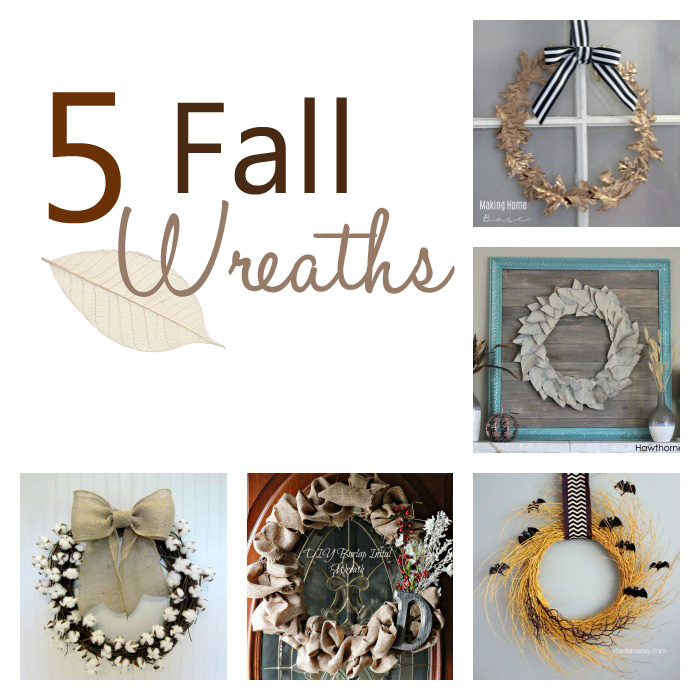 5 Fall Wreaths + M&MJ Link Party {75}