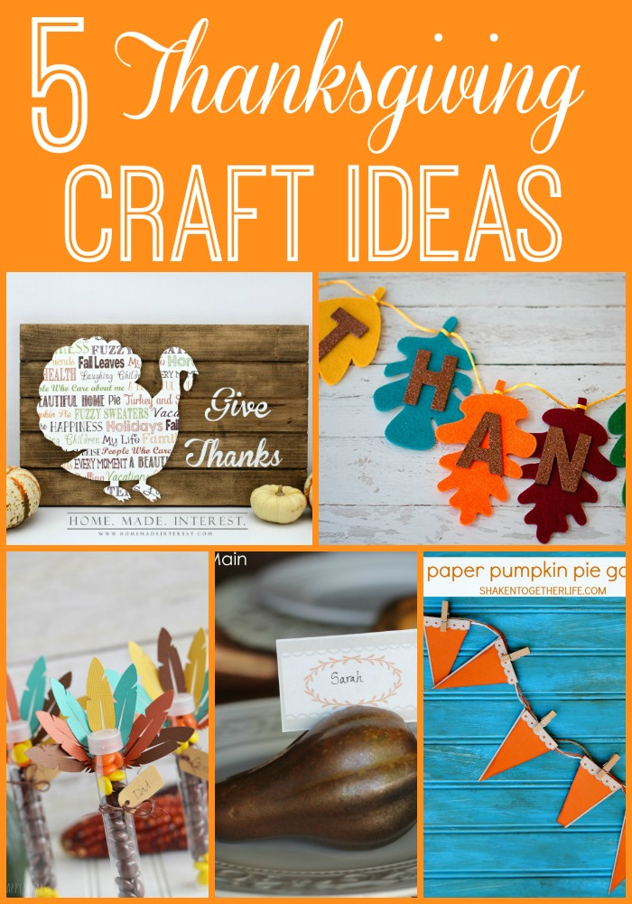 5 Thanksgiving Craft Ideas + Moonlight & Mason Jars Link Party