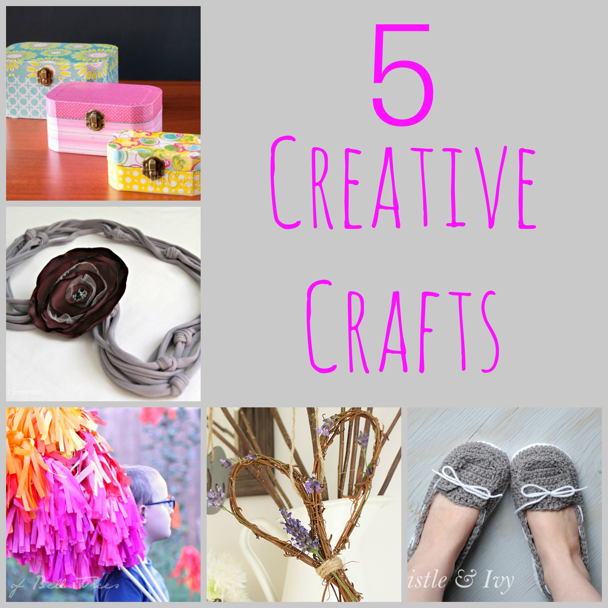5 creative crafts m mj link party 72 erin spain for Diy creative crafts