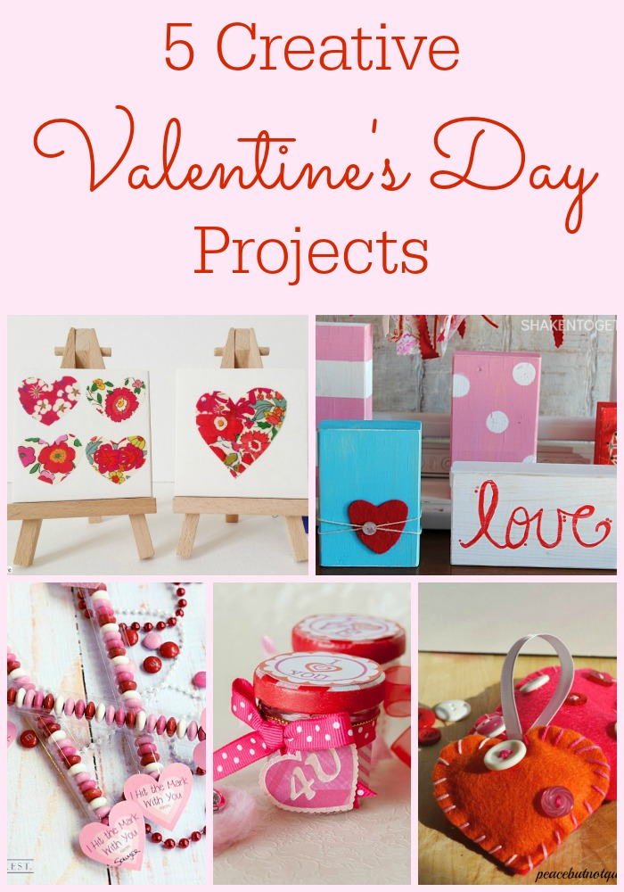5 Creative Valentine's Day Projects + Moonlight & Mason Jars Link Party