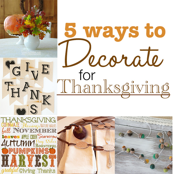 5 Ways to Decorate for Thanksgiving + MM&J Link Party {80}
