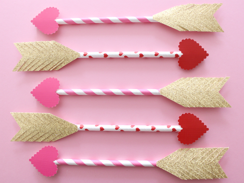 DIY Cupid Arrows, featured at #DIYLikeaBoss.