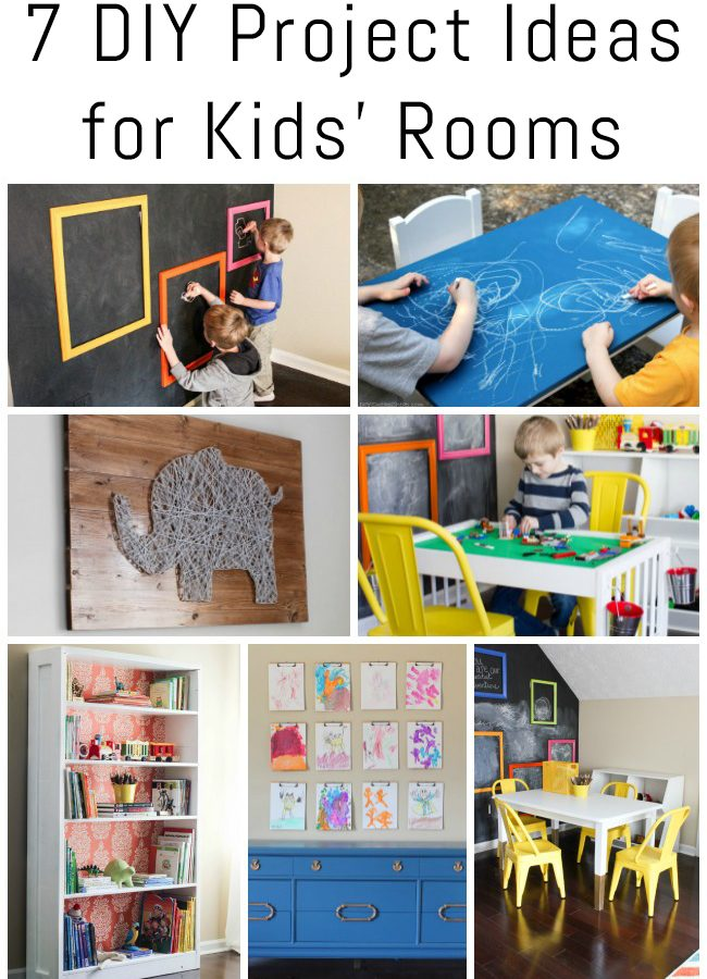 7 DIY Project Ideas for Kids' Rooms