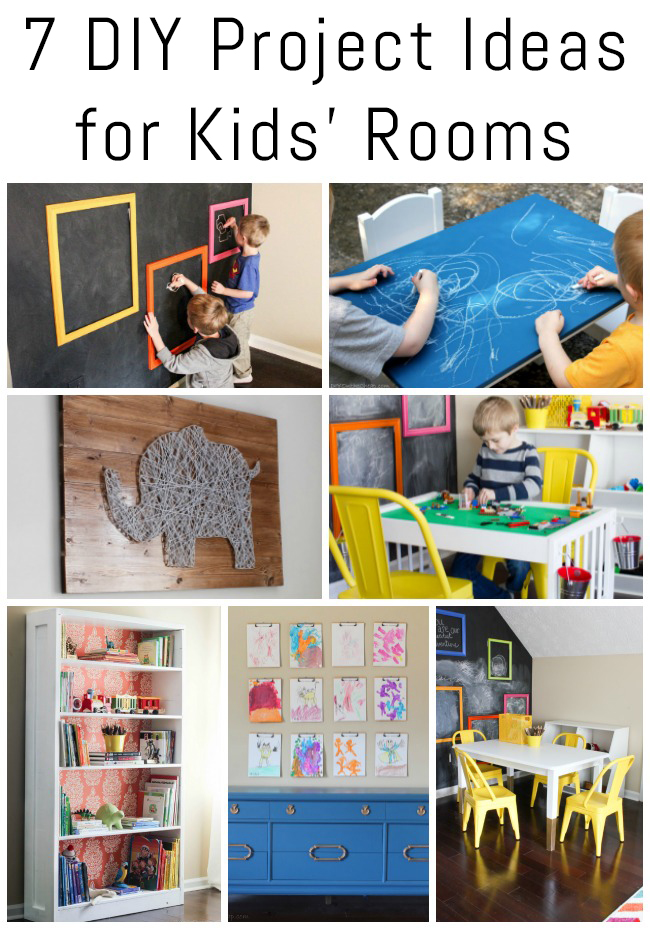 7 DIY Project Ideas for Kids' Rooms!