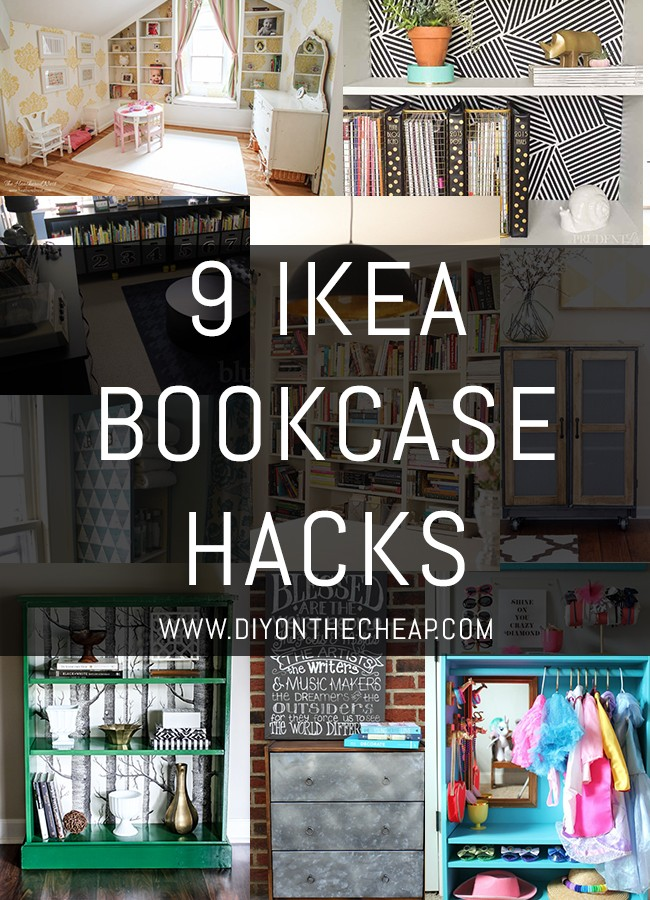 9 IKEA Bookcase Hacks