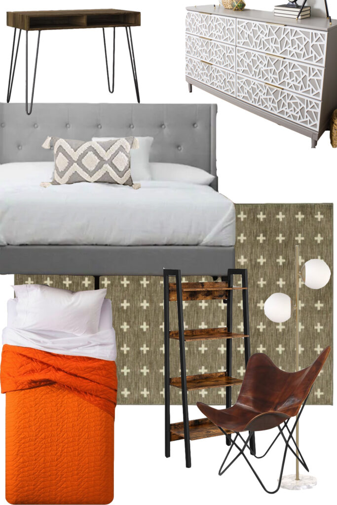 Teen boy bedroom moodboard
