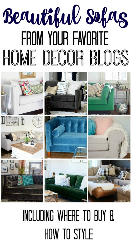 Beautiful Sofas from your favorite Home Decor Blogs