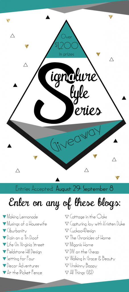 Signature Style Series Giveaway!