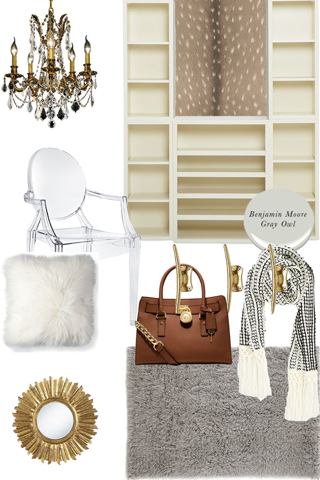 Closet makeover moodboard