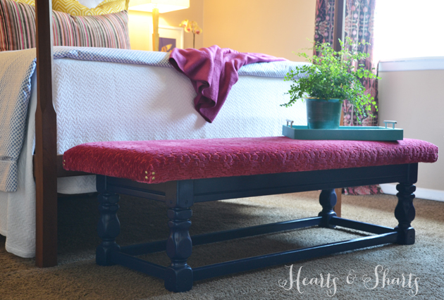 DIY Bench from coffee table