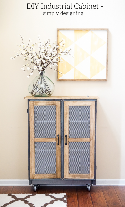 DIY Industrial Cabinet IKEA Hack by Simply Designing