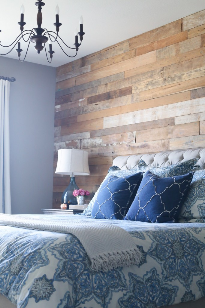 DIY Wood Accent Wall featured at DIY Like a Boss