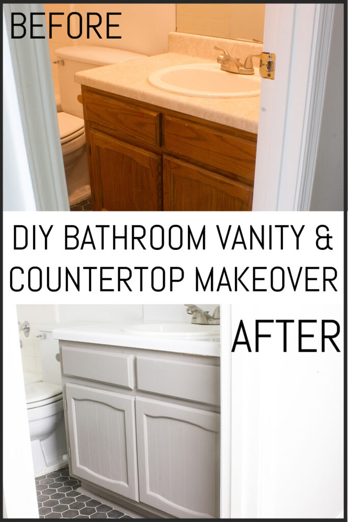Diy Bathroom Vanity And Countertop Makeover Erin Spain