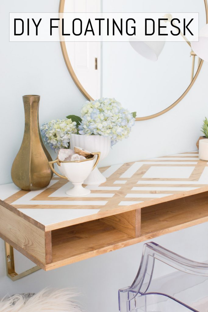 Learn how to make this DIY floating desk!