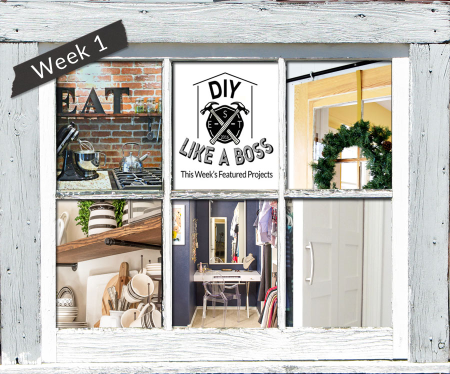 Featured projects at the #DIYLikeaBoss link party