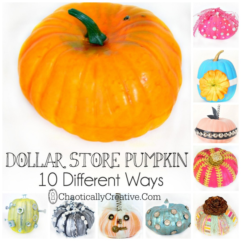 Decorate Dollar Store Pumpkins  sc 1 st  Rent.com & 8 Quick and Easy Halloween Craft Decoration Ideas - Rent.com Blog