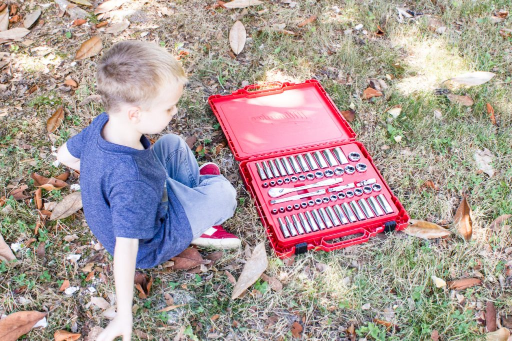 Check out this Milwaukee 56 pc. ratchet and socket set from the Home Depot! This would come in handy and also make a perfect gift.