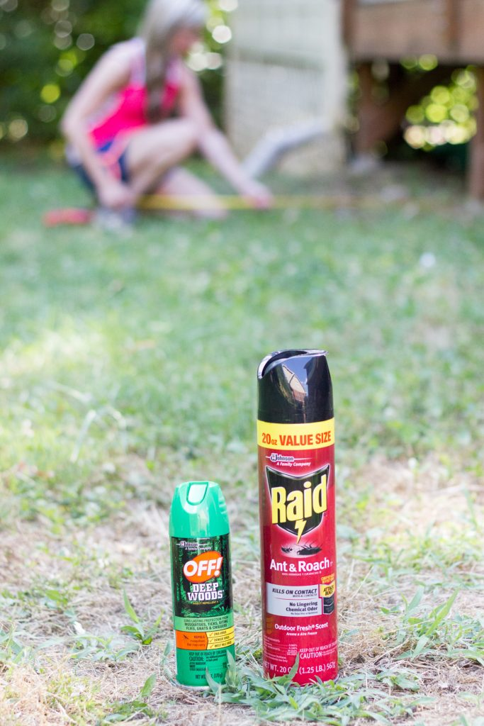 Repel bugs while working on outdoor DIY projects! Here's what I use.