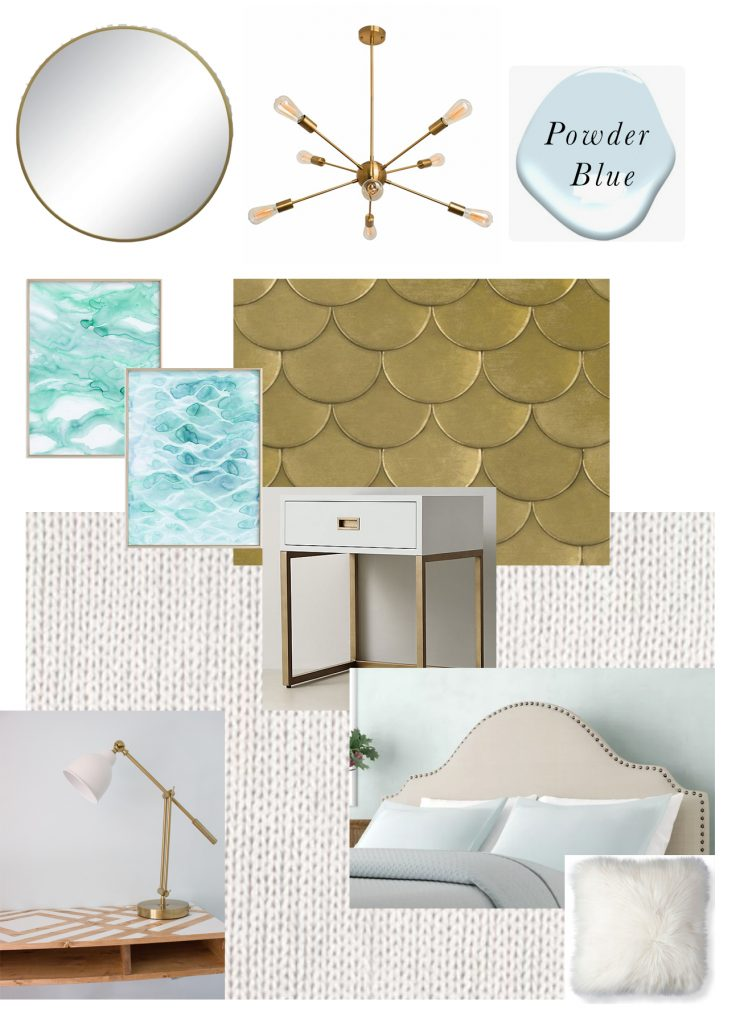 Check out this moodboard for a guest room makeover and find out all the details about the FrogTape® Paintover Challenge™!