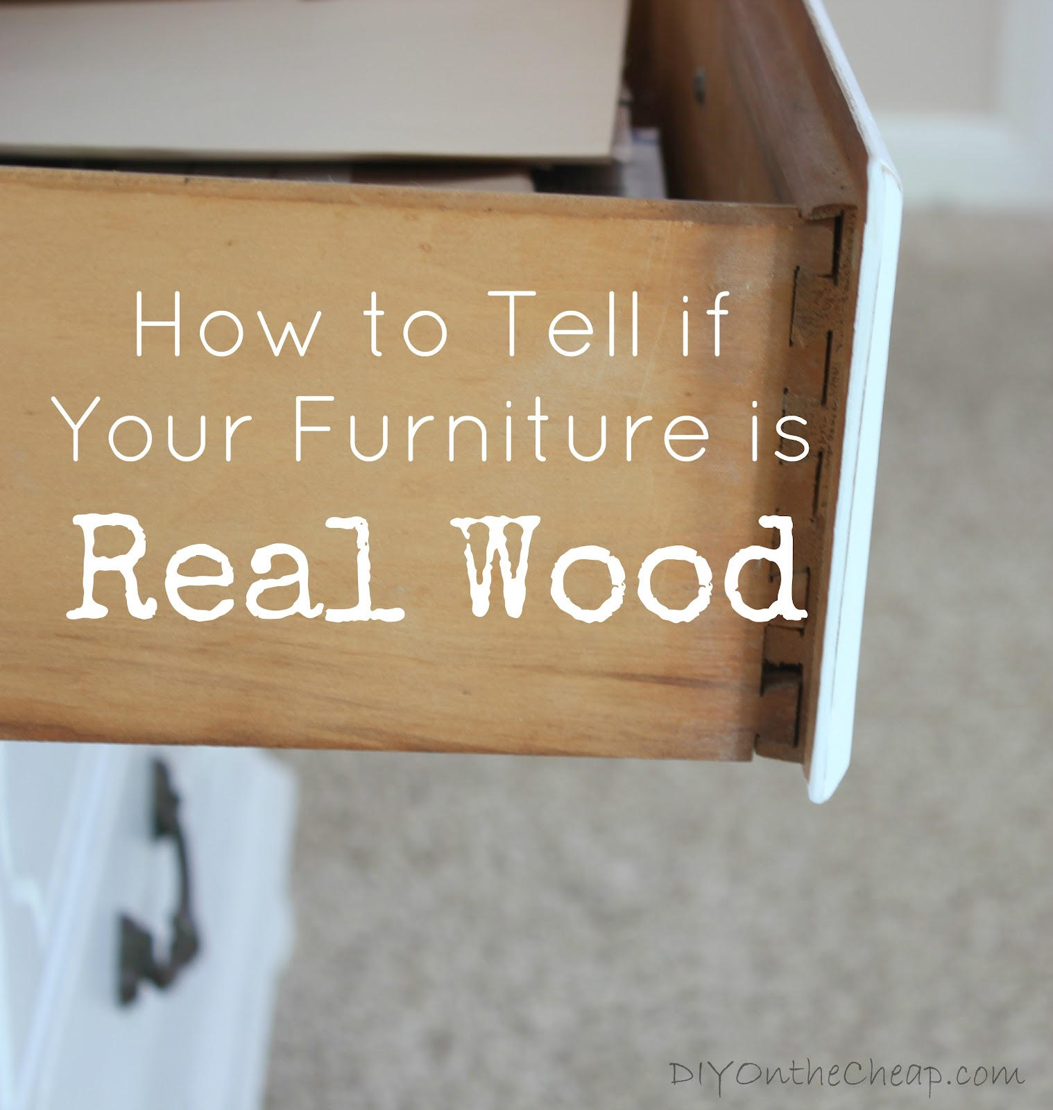 I was recently asked this question by a reader and thought it would be a great blog post topic how to tell if wood furniture is real or fake