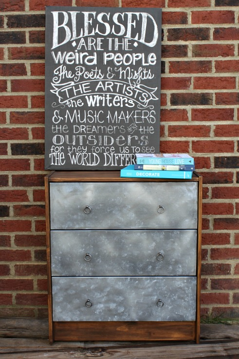 IKEA Rast Hack Farmhouse Dresser featured at DIY Like a Boss