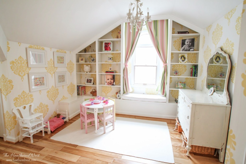 IKEA Bookcase Hack: Adorable girl's room!