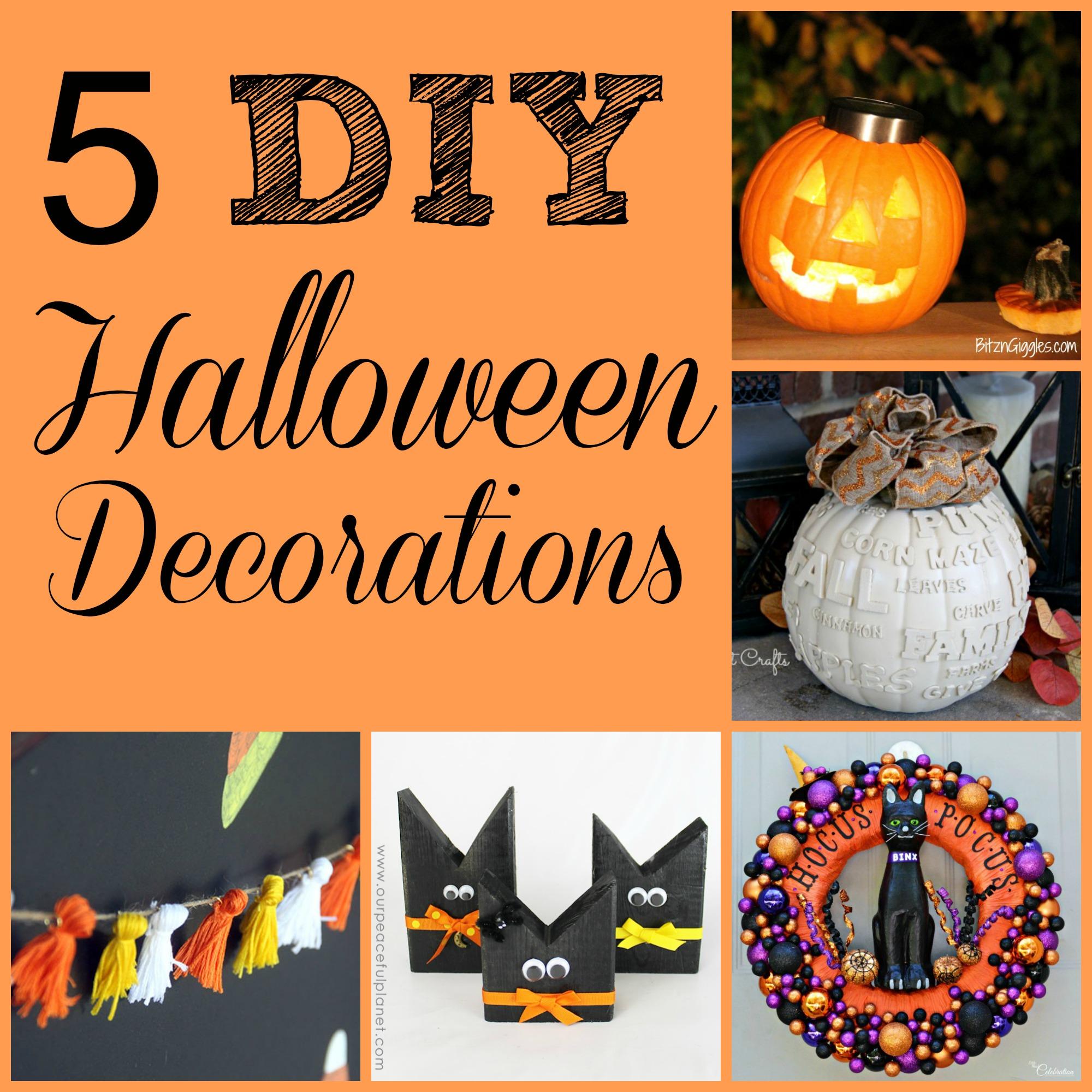 5 DIY Halloween Decorations + MM&J Link Party {77}