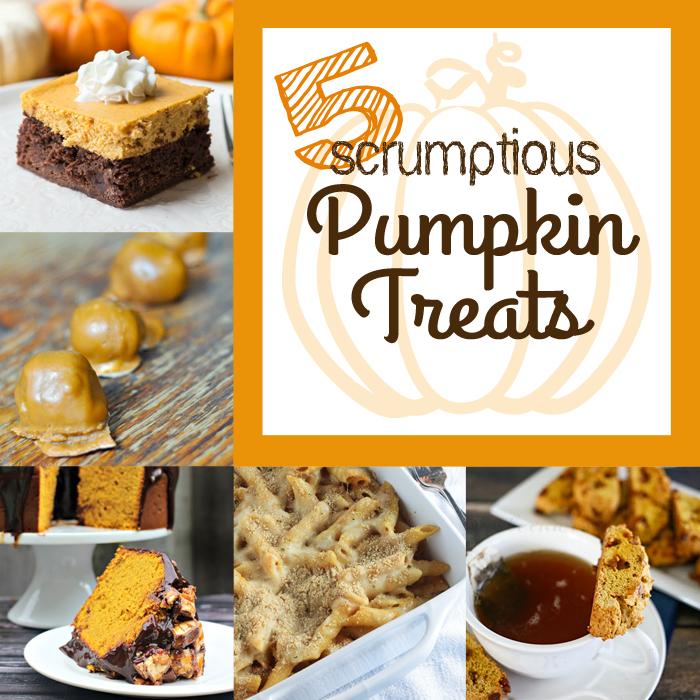 5 Scrumptious Pumpkin Treats + MM&J Link Party {76}