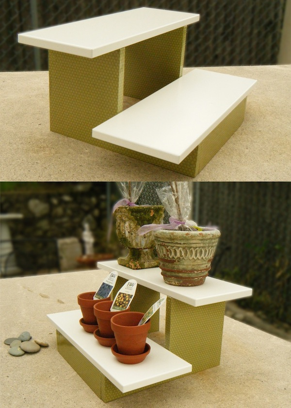 Mini-DIY-plant-stand-with-Mod-Podge
